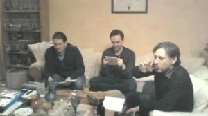 Neu hinzugekommen: v.l.n.r. Norbert, Johannes und Yorgos