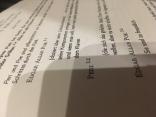 Das Skript, natürlich ordentlich formatiert mit Einsatznummern zum besseren Auffinden derselben.